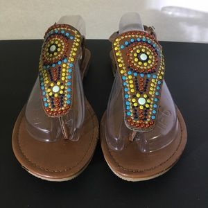 Paprika lady sandals size 10